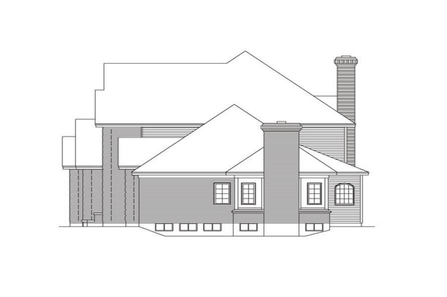 138-1030: Home Plan Right Elevation
