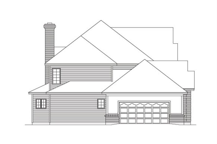138-1030: Home Plan Left Elevation