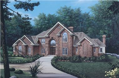 4-Bedroom, 3222 Sq Ft Traditional Home Plan - 138-1030 - Main Exterior