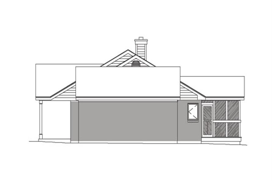 138-1031: Home Plan Right Elevation