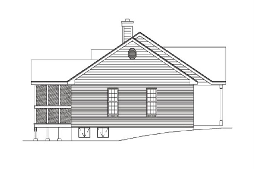 138-1031: Home Plan Left Elevation