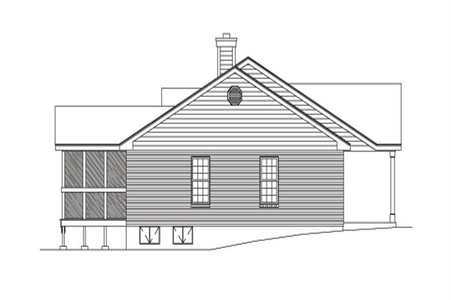 138-1031: Home Plan Left Elevation