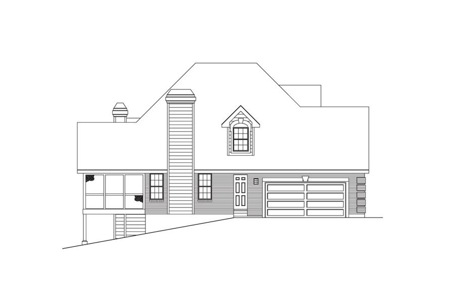 138-1032: Home Plan Left Elevation