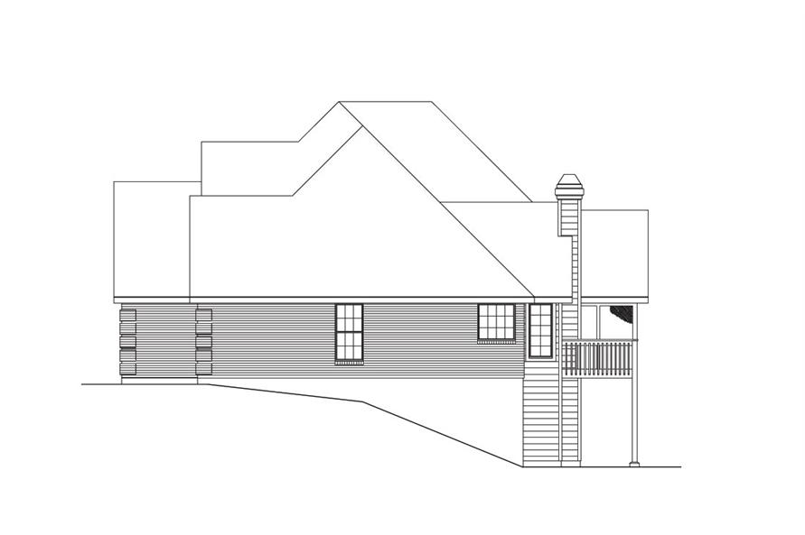 138-1032: Home Plan Right Elevation