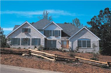 4-Bedroom, 2597 Sq Ft Traditional Home Plan - 138-1032 - Main Exterior