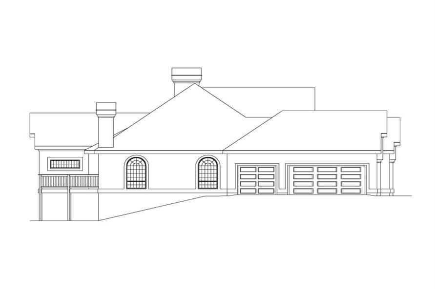 138-1033: Home Plan Left Elevation