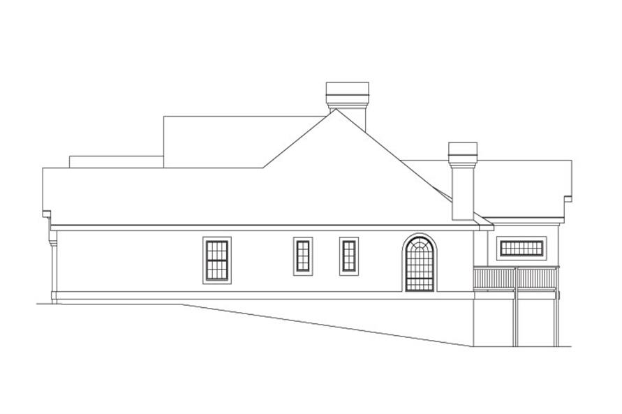 138-1033: Home Plan Right Elevation