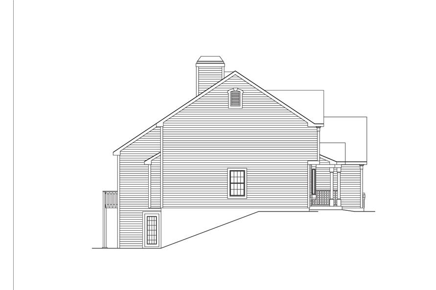 Home Plan Left Elevation of this 2-Bedroom,2963 Sq Ft Plan -138-1034