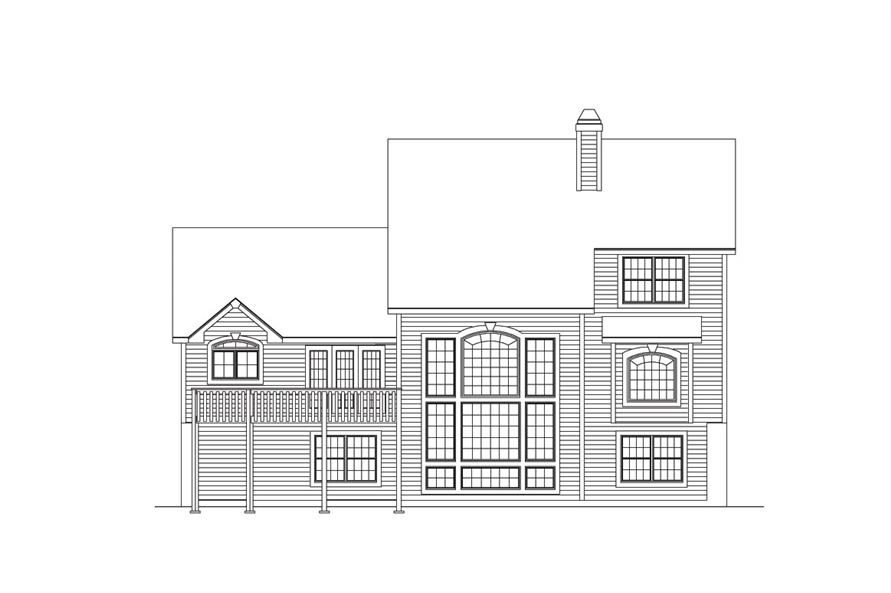 138-1034: Home Plan Rear Elevation