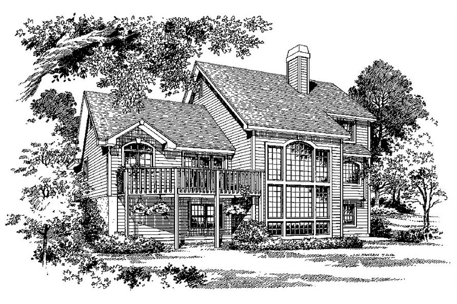 Home Plan Rendering of this 2-Bedroom,2963 Sq Ft Plan -2963