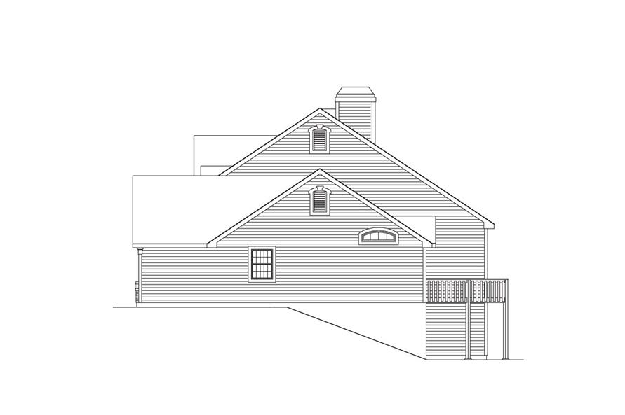 Home Plan Right Elevation of this 2-Bedroom,2963 Sq Ft Plan -138-1034