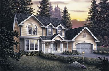 2-Bedroom, 2963 Sq Ft Traditional Home Plan - 138-1034 - Main Exterior