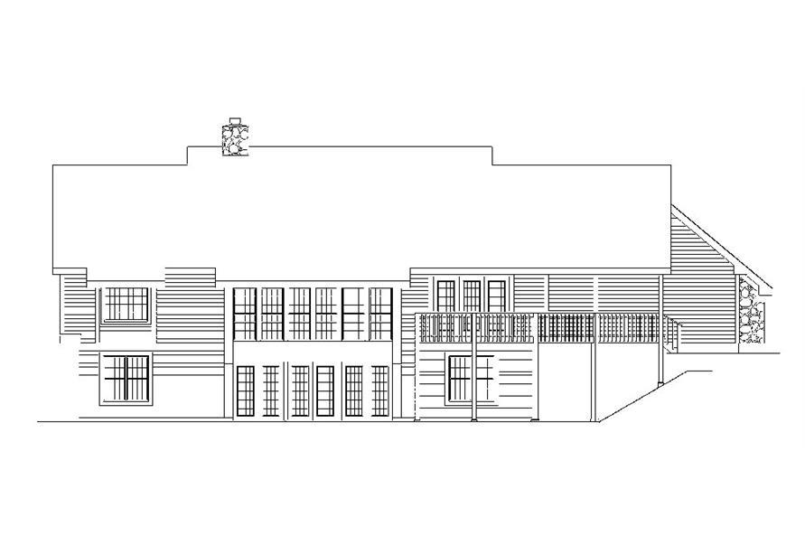 138-1035: Home Plan Rear Elevation