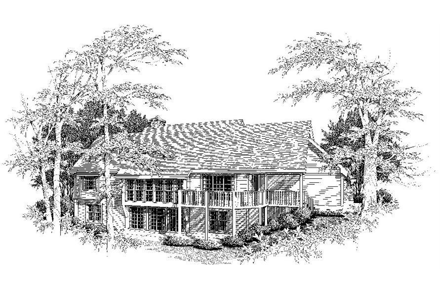 138-1035: Home Plan Rendering