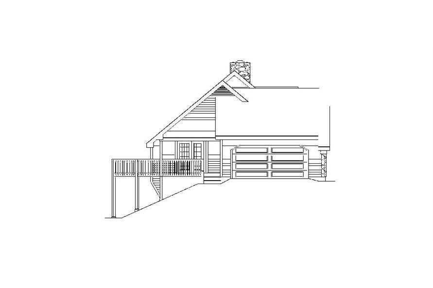 138-1035: Home Plan Left Elevation