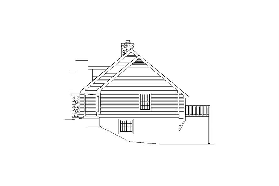 138-1035: Home Plan Right Elevation