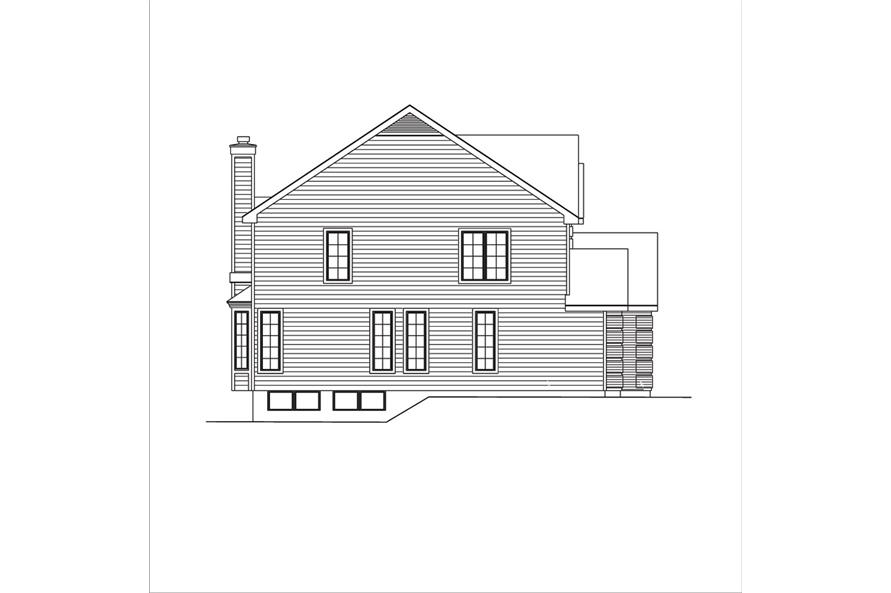 138-1036: Home Plan Left Elevation