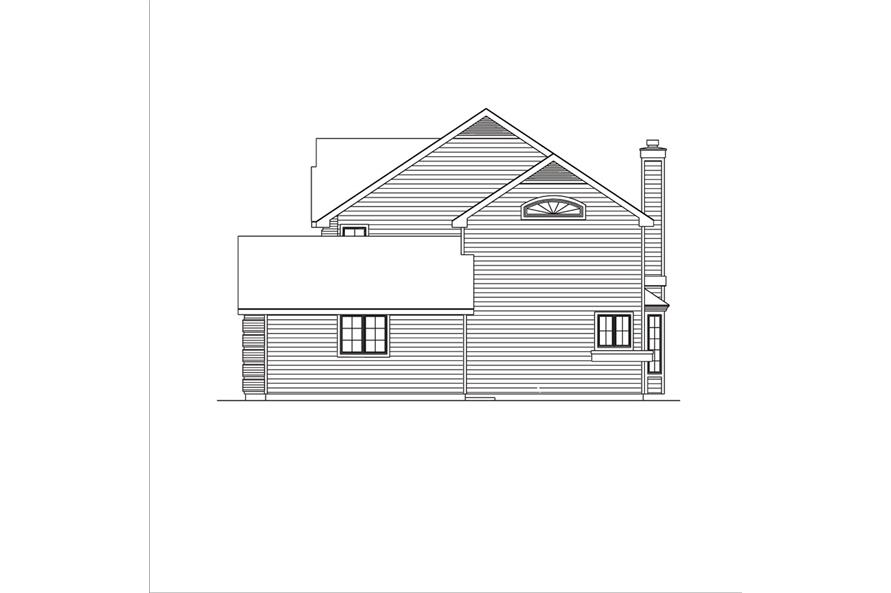 138-1036: Home Plan Right Elevation