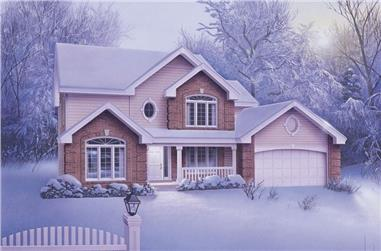 4-Bedroom, 2336 Sq Ft Traditional House Plan - 138-1036 - Front Exterior