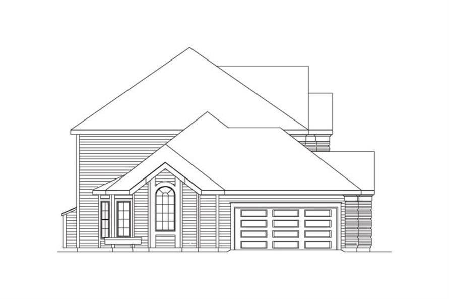 138-1037: Home Plan Left Elevation