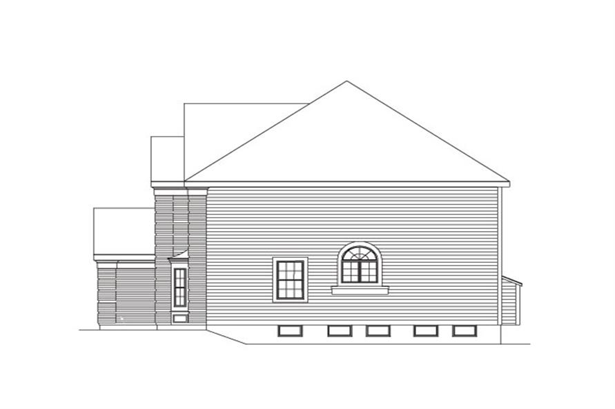 138-1037: Home Plan Right Elevation