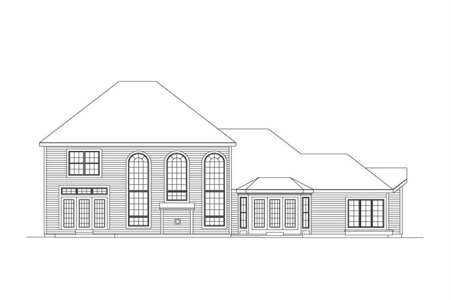 138-1037: Home Plan Rear Elevation