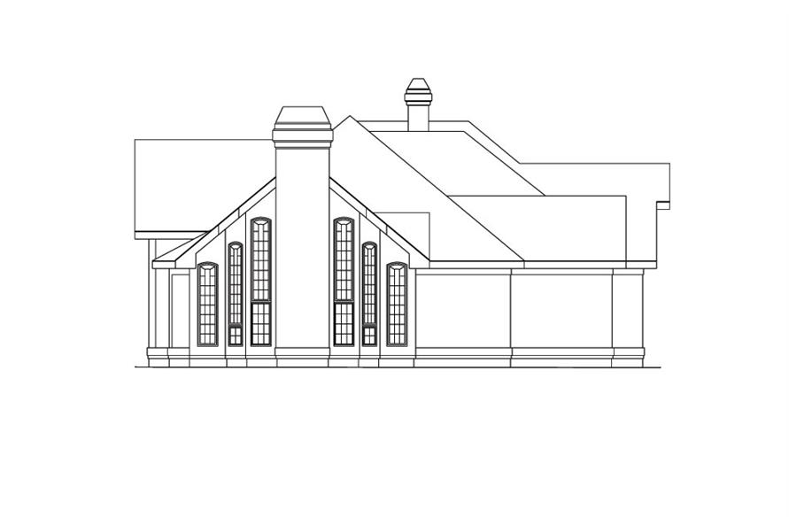 138-1038: Home Plan Left Elevation