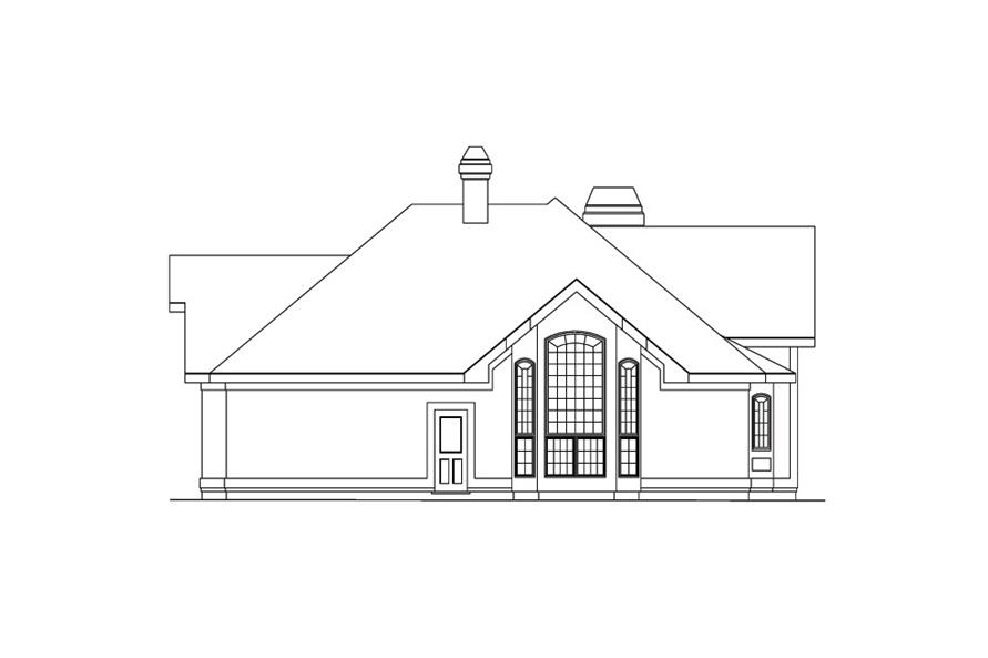 138-1038: Home Plan Right Elevation