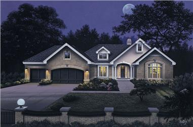 3-Bedroom, 2452 Sq Ft Ranch House Plan - 138-1039 - Front Exterior