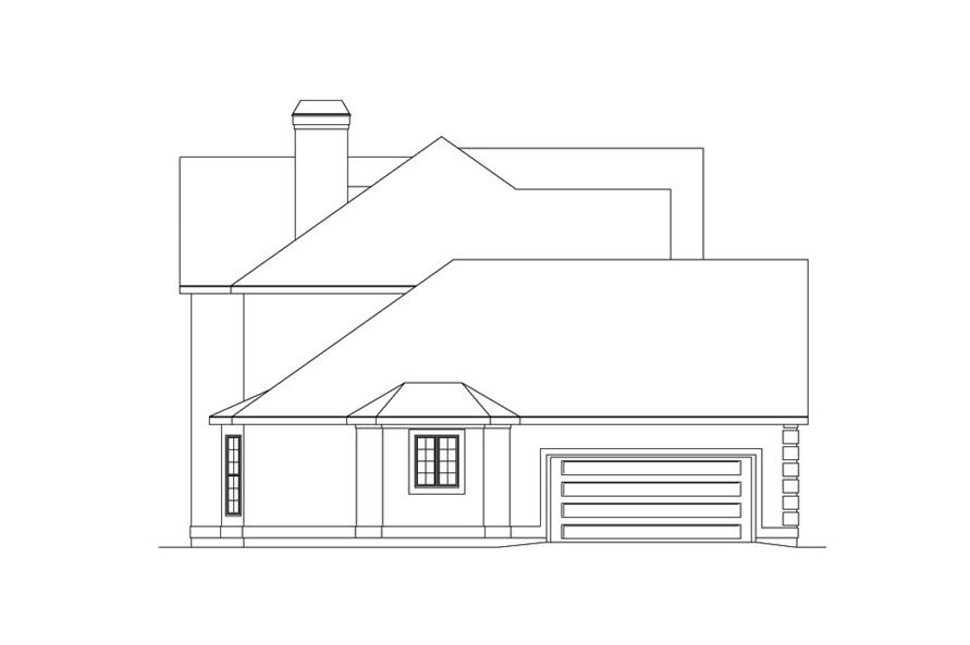 Home Plan Left Elevation of this 4-Bedroom,2716 Sq Ft Plan -138-1040