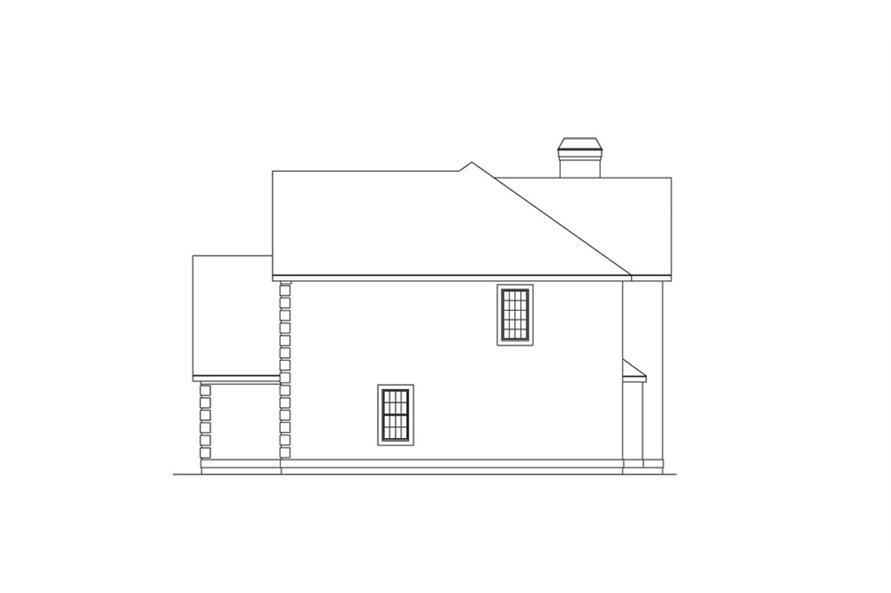 138-1040: Home Plan Right Elevation
