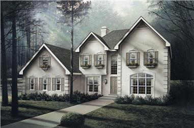 4-Bedroom, 2716 Sq Ft Georgian House Plan - 138-1040 - Front Exterior