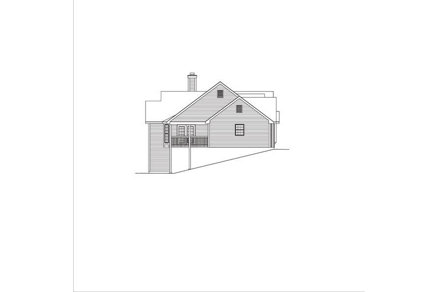 138-1041: Home Plan Left Elevation