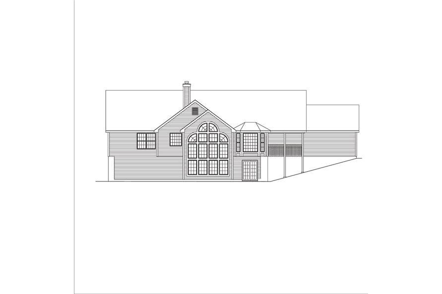 138-1041: Home Plan Rear Elevation