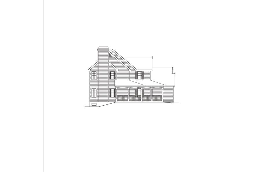 138-1042: Home Plan Left Elevation
