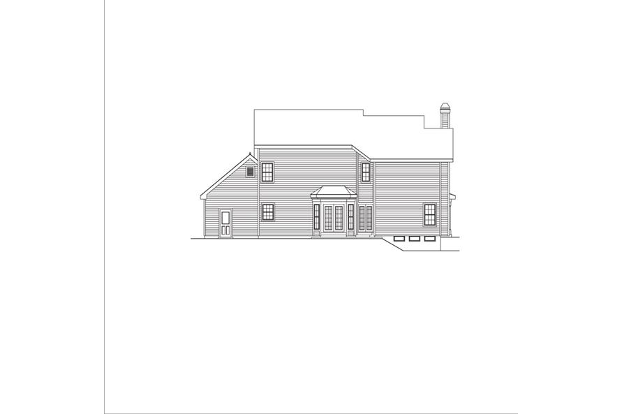 138-1042: Home Plan Rear Elevation