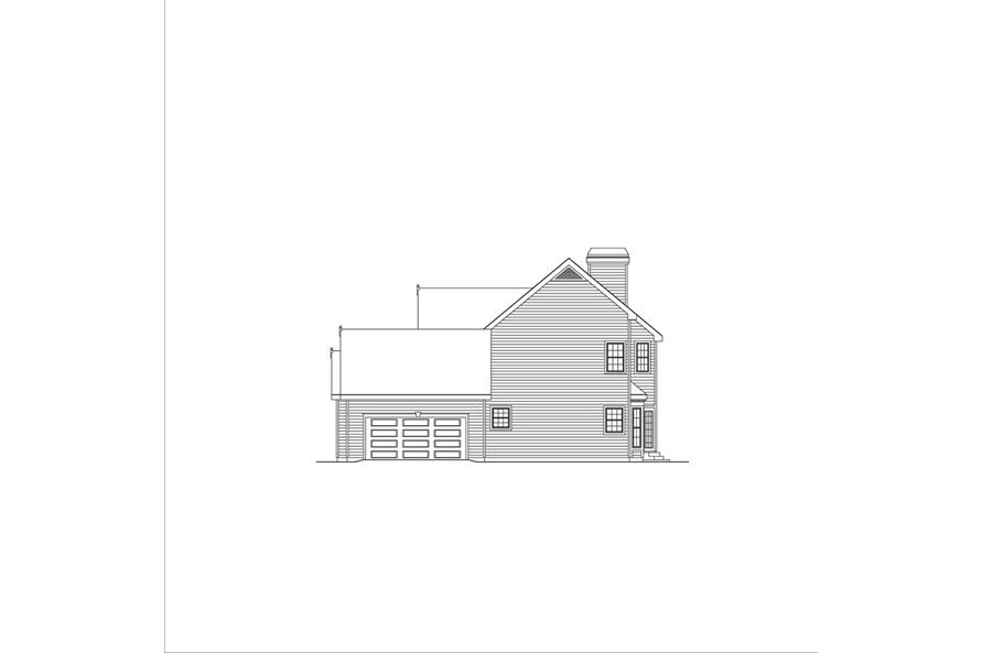 138-1042: Home Plan Right Elevation