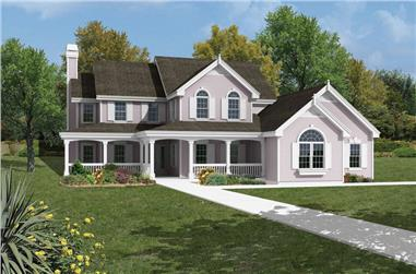 3-Bedroom, 2182 Sq Ft Traditional House Plan - 138-1042 - Front Exterior