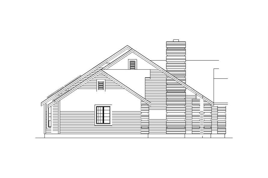 138-1043: Home Plan Left Elevation