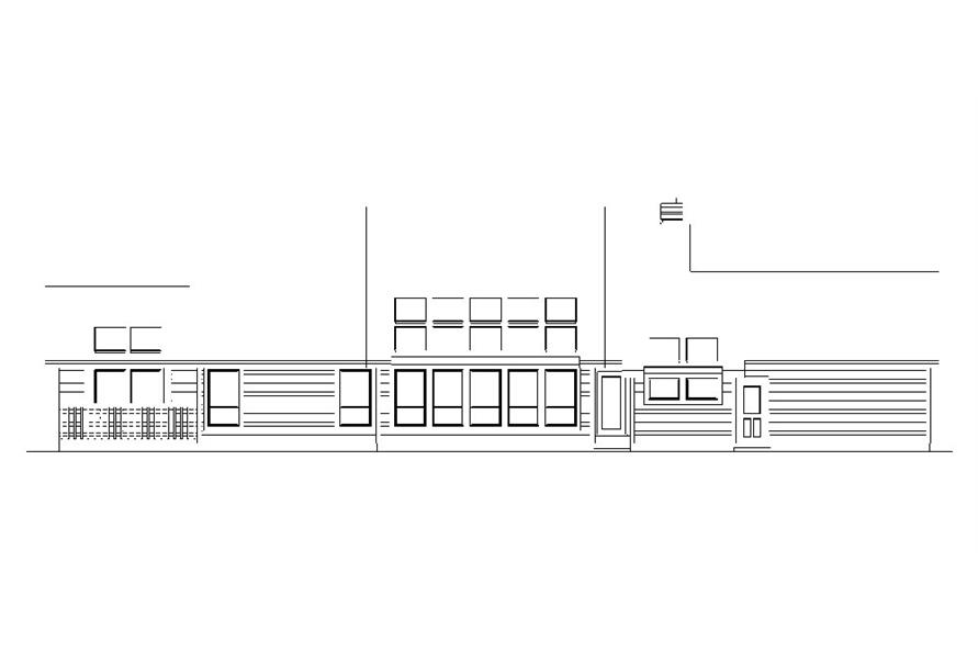 138-1043: Home Plan Rear Elevation