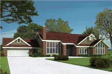 3-Bedroom, 2563 Sq Ft Contemporary House Plan - 138-1043 - Front Exterior
