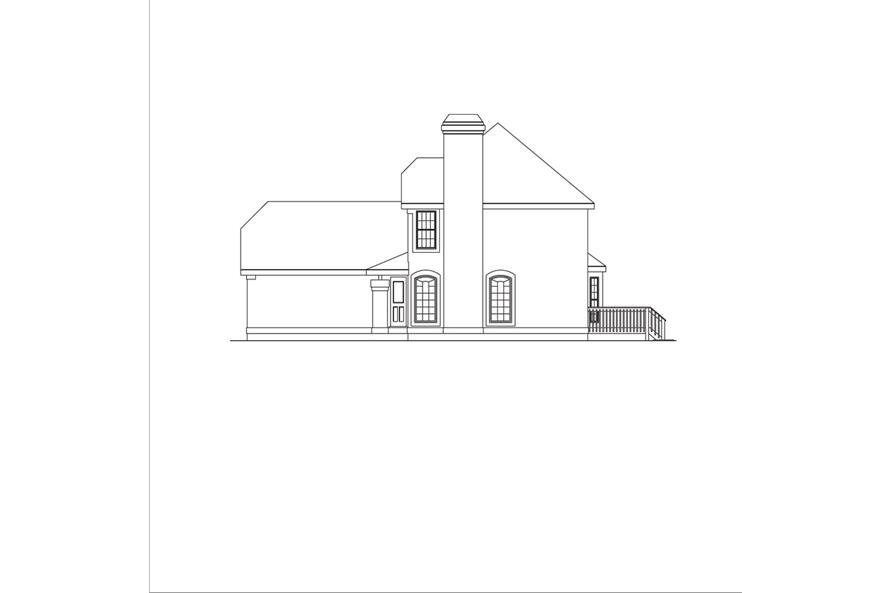 138-1044: Home Plan Right Elevation