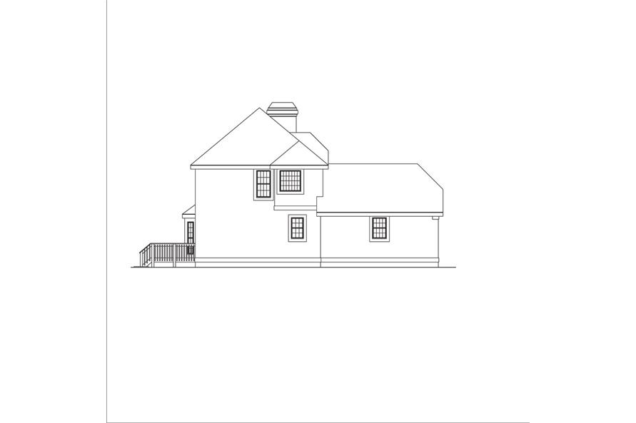 138-1044: Home Plan Left Elevation