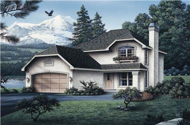 3-Bedroom, 1492 Sq Ft Cottage Home Plan - 138-1044 - Main Exterior