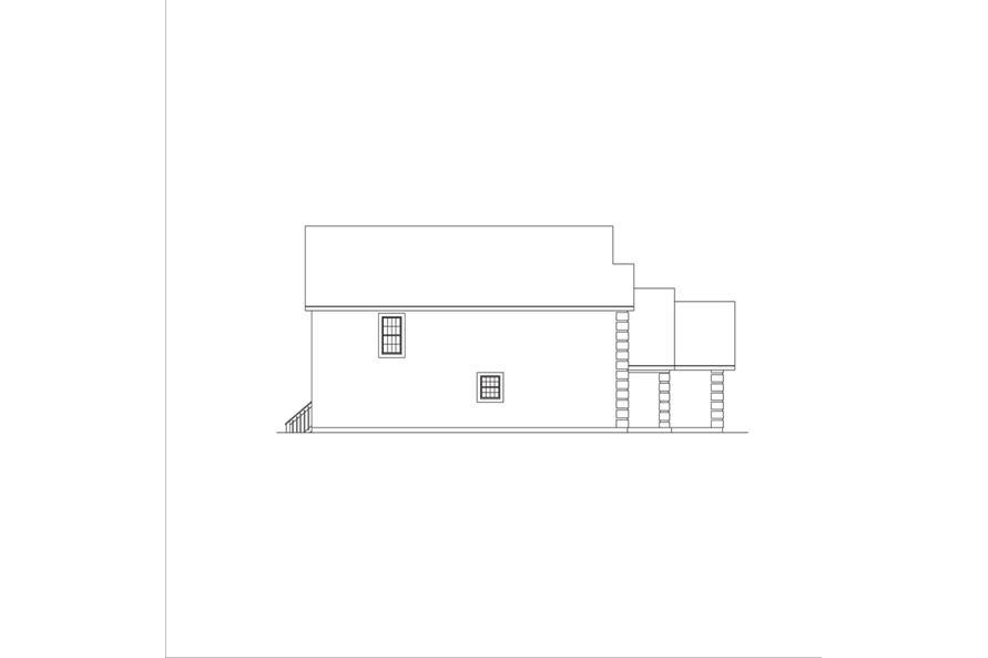 138-1045: Home Plan Left Elevation
