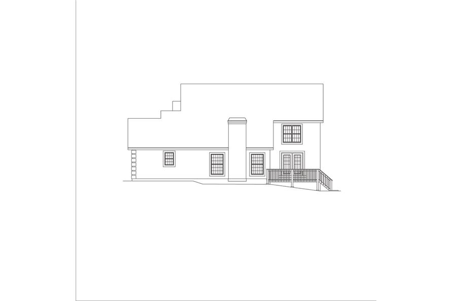 138-1045: Home Plan Right Elevation