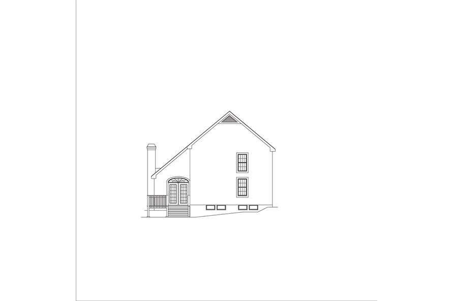 138-1045: Home Plan Rear Elevation