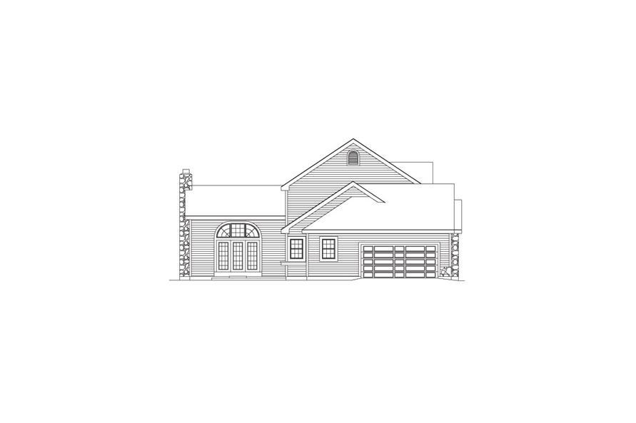 138-1046: Home Plan Left Elevation