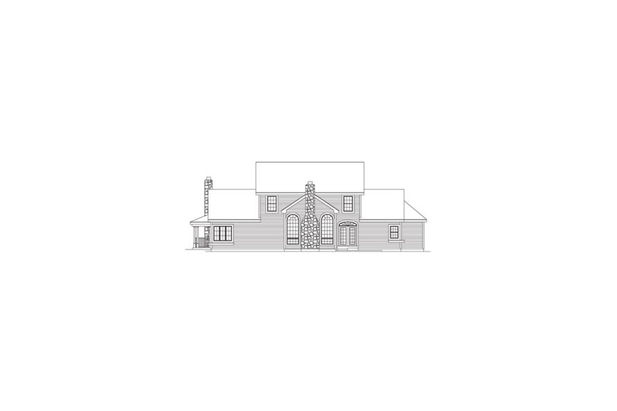 138-1046: Home Plan Rear Elevation