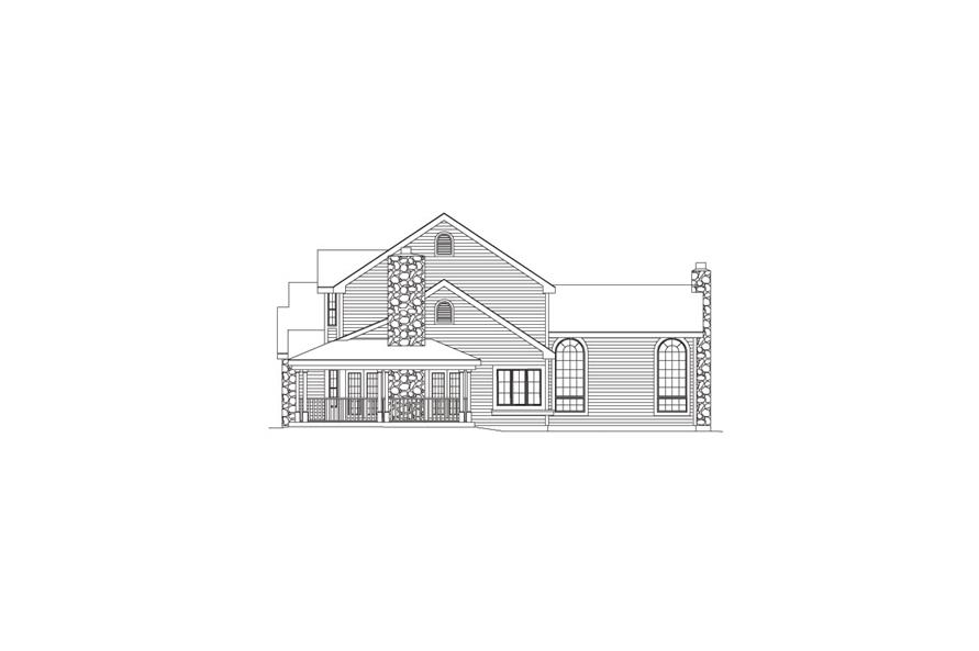 Home Plan Right Elevation of this 5-Bedroom,2828 Sq Ft Plan -138-1046